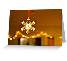 Golden snowflake Greeting Card