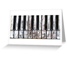 New Orleans Piano Keys Greeting Card