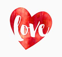 WATERCOLOUR LOVE HEART modern brush script typography Unisex T-Shirt