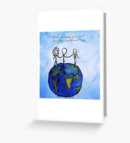 Freunde Greeting Card