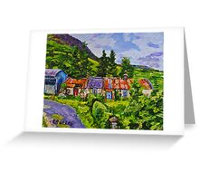 Disused Cottages on a Working Farm, Antrim Coast.  Greeting Card
