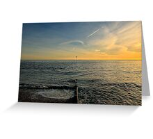 Sunset Over Selsey Greeting Card