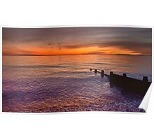 Sunset Over Selsey Two Poster