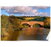 River Thames Railway Bridge Poster