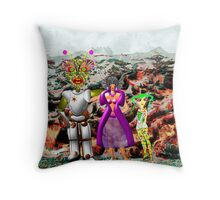 A Mixed Interstellar Family on the Planet of Ykulian Faces Global Warming Throw Pillow