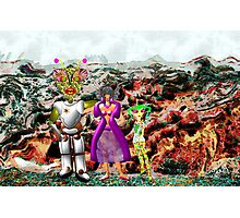 A Mixed Interstellar Family on the Planet of Ykulian Faces Global Warming Photographic Print