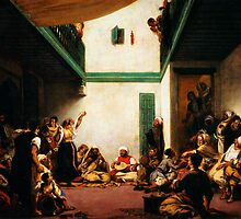 a jewish wedding in morocco 1841 by Adam Asar