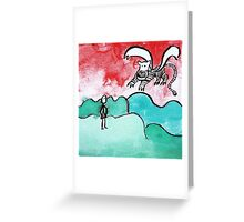 fliegender Tiger Greeting Card