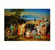 The Apparition of Christ to the People (PR) Art Print