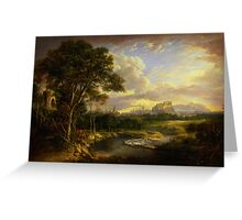 Alexander Nasmyth View of the City of Edinburgh Greeting Card