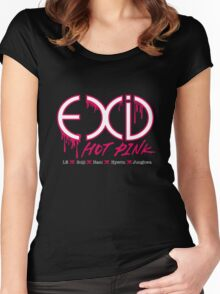 EXID Hot Pink Women's Fitted Scoop T-Shirt