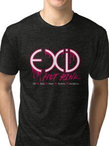 EXID Hot Pink Tri-blend T-Shirt