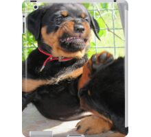 Grumpy Faced Rottweiler Puppy Lashes Out iPad Case/Skin