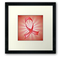 Awareness Red Ribbon 2 Framed Print
