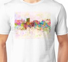 Geneva skyline in watercolor background Unisex T-Shirt
