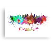 Frankfurt skyline in watercolor Canvas Print
