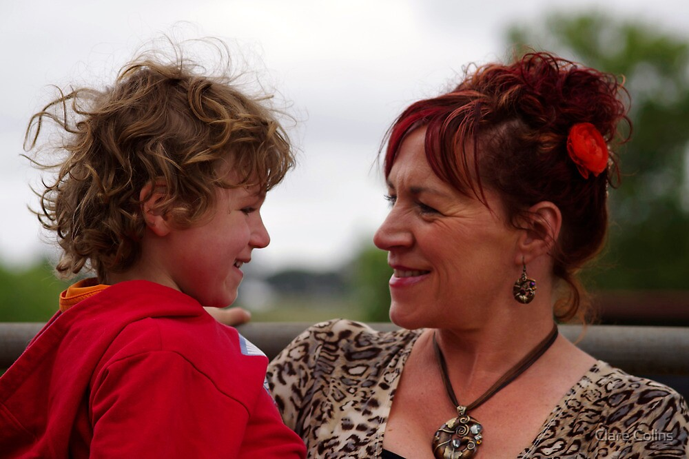 A Mother and Son Moment by Clare Colins