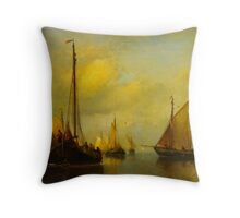 Antonie Waldorp Vissersboten op kalm water Throw Pillow