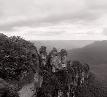 The Three Sisters - NSW - Australia by Norman Repacholi
