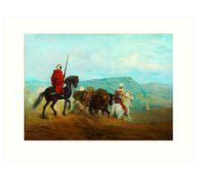 Arab Horse Soldiers; Spahis, Guillaume Régamey, 1871 Art Print