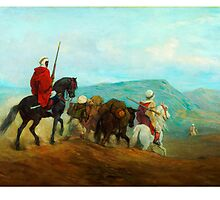 Arab Horse Soldiers; Spahis, Guillaume Régamey, 1871 by Adam Asar