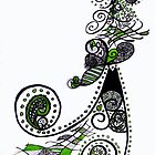 Green and Swirls by scarletprophesy