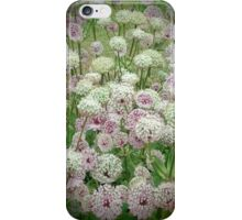 White Flowers with Bee iPhone Case/Skin
