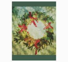 Sparkling Christmas Wreath Baby Tee