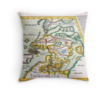 1541 WALDSEEMÜLLER Map of Scandinavia (Norbegia Gottia) Geographicus NorbegiaGottia waldseemuller 1541 Throw Pillow