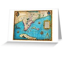 1591 De Bry and Le Moyne Map of Florida and Cuba Geographicus Florida debry 1591 Greeting Card