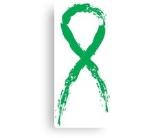 Awareness Green Ribbon Canvas Print