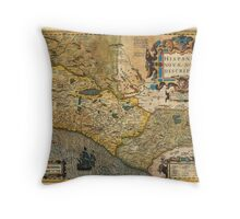 1606 Hondius_and Mercator Map of Mexico Geographicus HispaniaeNovaMexico mercator 1606 Throw Pillow