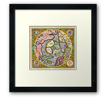 1606 Mercator Hondius Map of the Arctic First Map of the North Pole Geographicus NorthPole mercator 1606 Framed Print