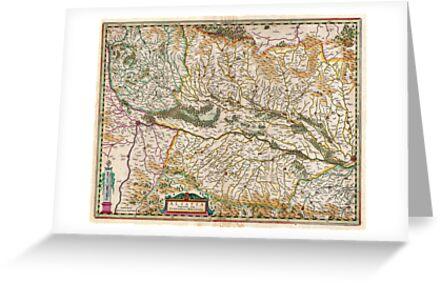 1644 Jansson Map of Alsace Basel and Strasbourg Geographicus AlsatiaSuperior jansson 1644 by MotionAge Media
