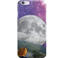 Meditation Moon Star and Flying Ship  iPhone Case/Skin