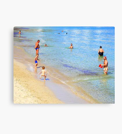 Bare Bums And Bellies In Ibiza Canvas Print