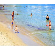 Bare Bums And Bellies In Ibiza Photographic Print