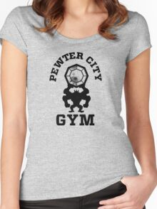 Pewter City Gym Women's Fitted Scoop T-Shirt