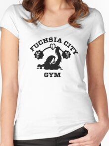 Fuschia City Gym Women's Fitted Scoop T-Shirt