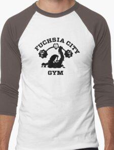 Fuschia City Gym Men's Baseball ¾ T-Shirt