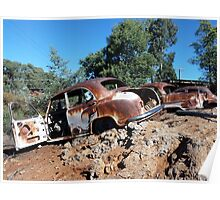 Saw mill car wrecks, Hill End, NSW Poster