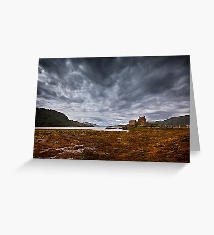 Storm over ther Castle Greeting Card