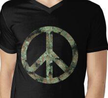 Peace & Ganja Mens V-Neck T-Shirt