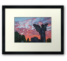Angel at Sunset Harlow Hill Cemetery  Framed Print