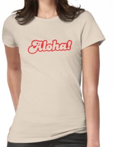 ALOHA! hello from Hawaii Womens Fitted T-Shirt