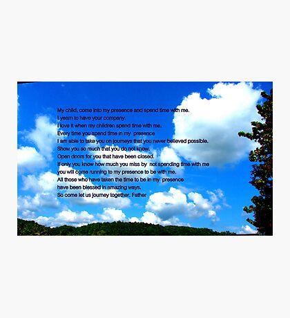 My Presence Photographic Print