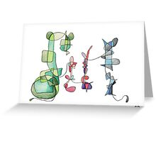 An abstract family portrait Greeting Card
