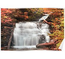 Columbus Day At Mohican Falls Poster