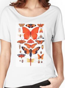 Orange Insect Collection Women's Relaxed Fit T-Shirt