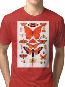 Orange Insect Collection Tri-blend T-Shirt